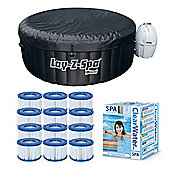 Bestway Lay-Z-Spa Miami & Silver Starter Kit - 12 Filters & Chemical starter kit