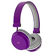 KitSound Metro Bluetooth On ear Headphones - Purple