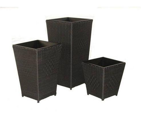 Royal Craft Cannes Planter Set - Black