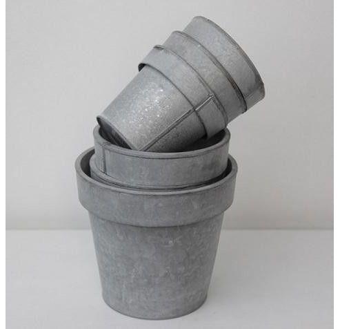 buy zinc flower pot 14cm from our pots range tesco. Black Bedroom Furniture Sets. Home Design Ideas