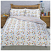 Hexagonal Spot Ditsy Print Duvet Set, - Multi
