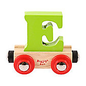 Bigjigs Rail Rail Name Letter E (Green)