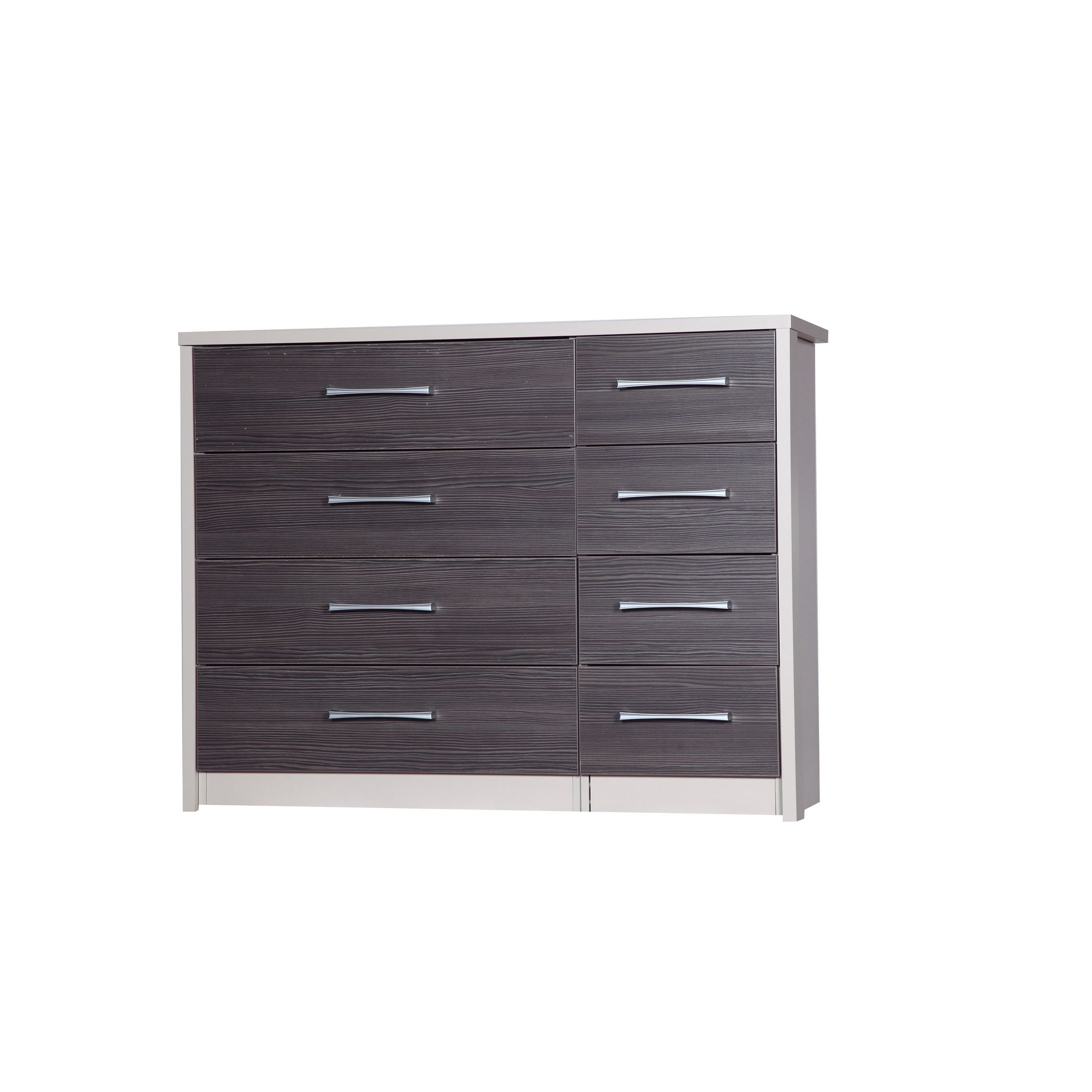 Alto Furniture Avola 8 Drawer Double Chest - Cream Carcass With Grey Avola at Tesco Direct
