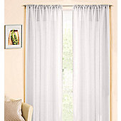 Casablanca Rod Pocket Voile Panel - White