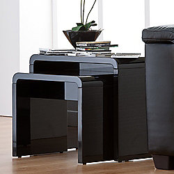 World Furniture Toscana Nest of Tables - Black