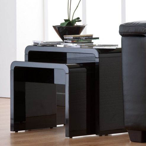 World Furniture Toscana Nest of Tables - Black