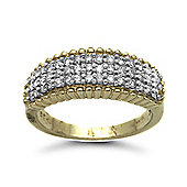 9 Carat Yellow Gold 50pts Bombay Ring