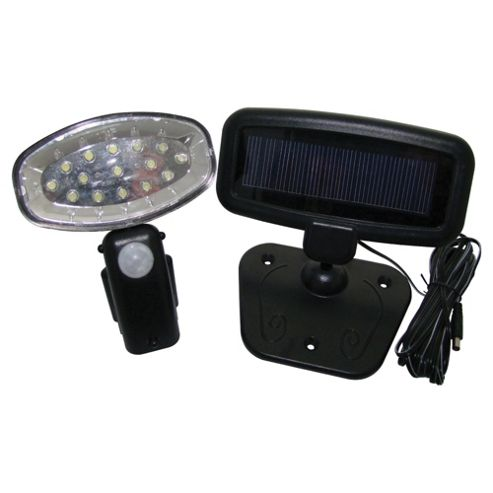15 Led Solar PIR Garden & Shed/Garage Light