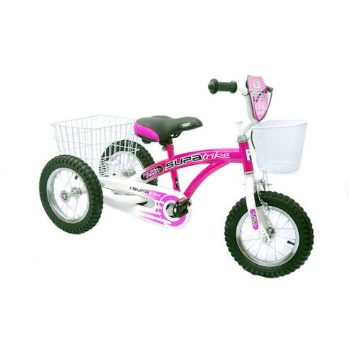 "Concept Pedal Pals 12"" Wheel Trike, Pink/White"