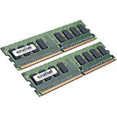 Crucial 2048MB (2 x 1024MB) 400MHz PC-3200 DDR 184-pin DIMM Memory Modules