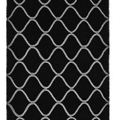 Think Rugs Elements Black Tufted Rug - 150 cm x 230 cm (4 ft 11 in x 7 ft 7 in)
