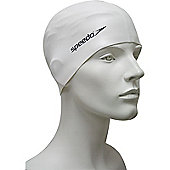 Speedo Senior Flat Silicone Swimming Cap - White