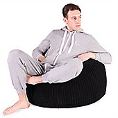 Lounge Pug™ Classic Cord Bean Bag - Black
