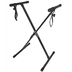 Tiger Single Braced X Frame Keyboard Stand and Securing Straps