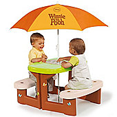 Winnie The Pooh Picnic Table with Umbrella