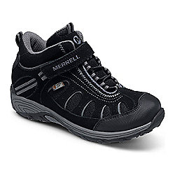 Merrell Kids Cham Mid AC Waterproof Boot Black 3