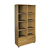 Urbane Designs Hadlee Contemporary Oak Livingroom 2 Door Double Bookcase