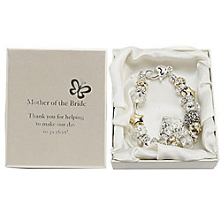 Mother of the Bride Wedding Charm Bracelet