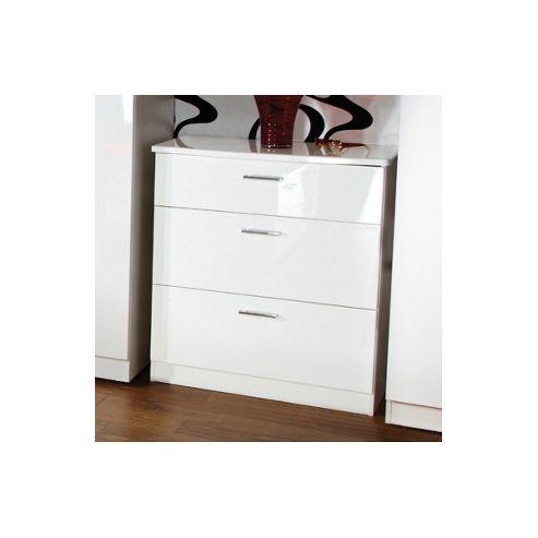 Welcome Furniture Mayfair 3 Drawer Deep Chest - Light Oak - Aubergine - Black