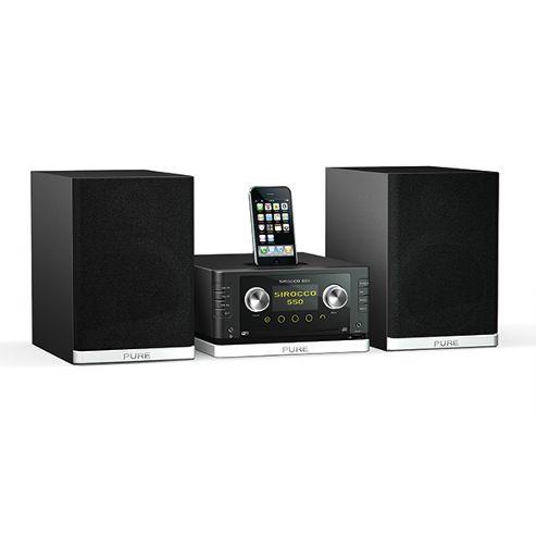 Pure SIROCCO550 Micro Hi-fi DAB/FM/Internet Radio CD & Dock for iPod/iPhone