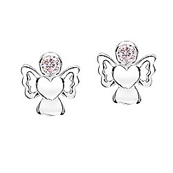 Jo For Girls October Birthstone Guardian Angel Stud Earrings