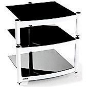 Atacama Equinox 3 shelf Hi-Fi Stand Diamond White Frame