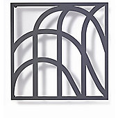 FLORA Grow No.9 Art Trellis in Anthracite