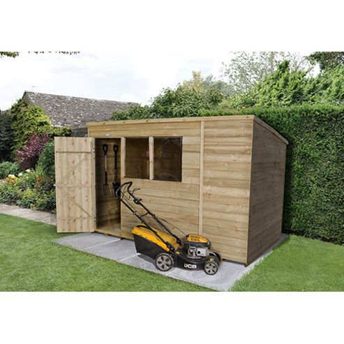Buy timberdale pent wooden shed 10x6ft from our wooden for Garden shed tesco