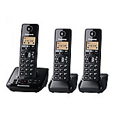 KXTG2723EB Trio DECT Cordless Telephones with Answer Machine in Black