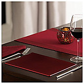 Tesco Red Glitter Placemats 4 Pack