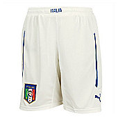 2014-15 Italy Puma Home Shorts (White) - Kids - White