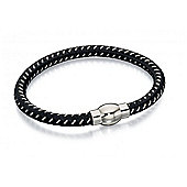 Men's Fred Bennett Black Rope Bracelet with Magnetic Clasp