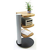 Atacama Helix Silver and Bamboo 3 Shelf Hifi Stand