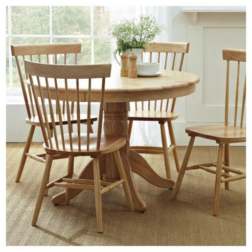 Dorset Round 4 Seat Dining Table Natural