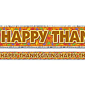 Thanksgiving Metallic Fringed Banner 5ft (each)