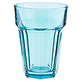 Tesco Single Soda Glass, Aqua