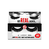 w7 Get Real 100% Real Human Hair False Eyelashes Medium-Long Black HL02