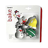 Christmas Cookie Cutters, Set of 4