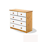 Verona Verona 2 Over 3 Drawer Chest - White