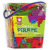 Pirate Foam Sticker Bucket