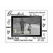 Sixtrees Moments Bevelled Glass Grand Kids Photo Frame