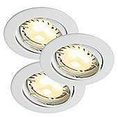 Nordlux Triton Three Light LED Downlighter in White