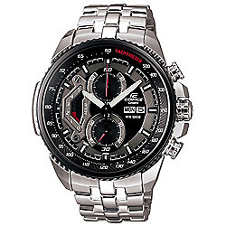 Casio Edifice Mens Stainless Steel Chronograph Day & Date Watch EF-558D-1AVEF