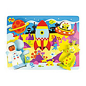 Bigjigs Toys BJ545 Chunky Lift Out Space Puzzle