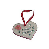 Mother of the Groom Hot Pink Sparkle Heart