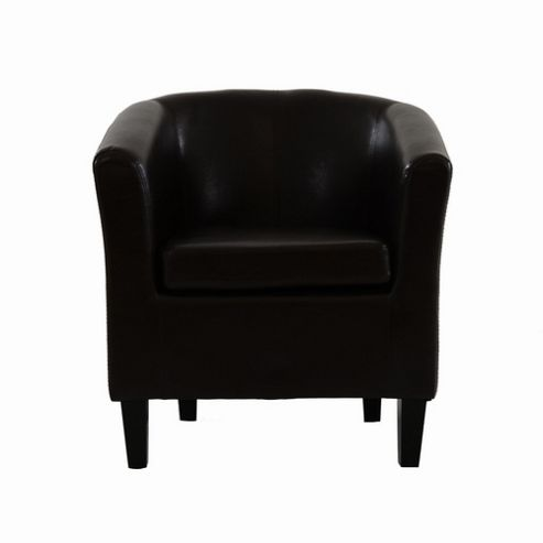 mayfair faux leather tub chair from our dining chairs range tesco
