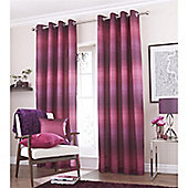 Catherine Lansfield Home Graded Stripe Plum Curtains 66x54