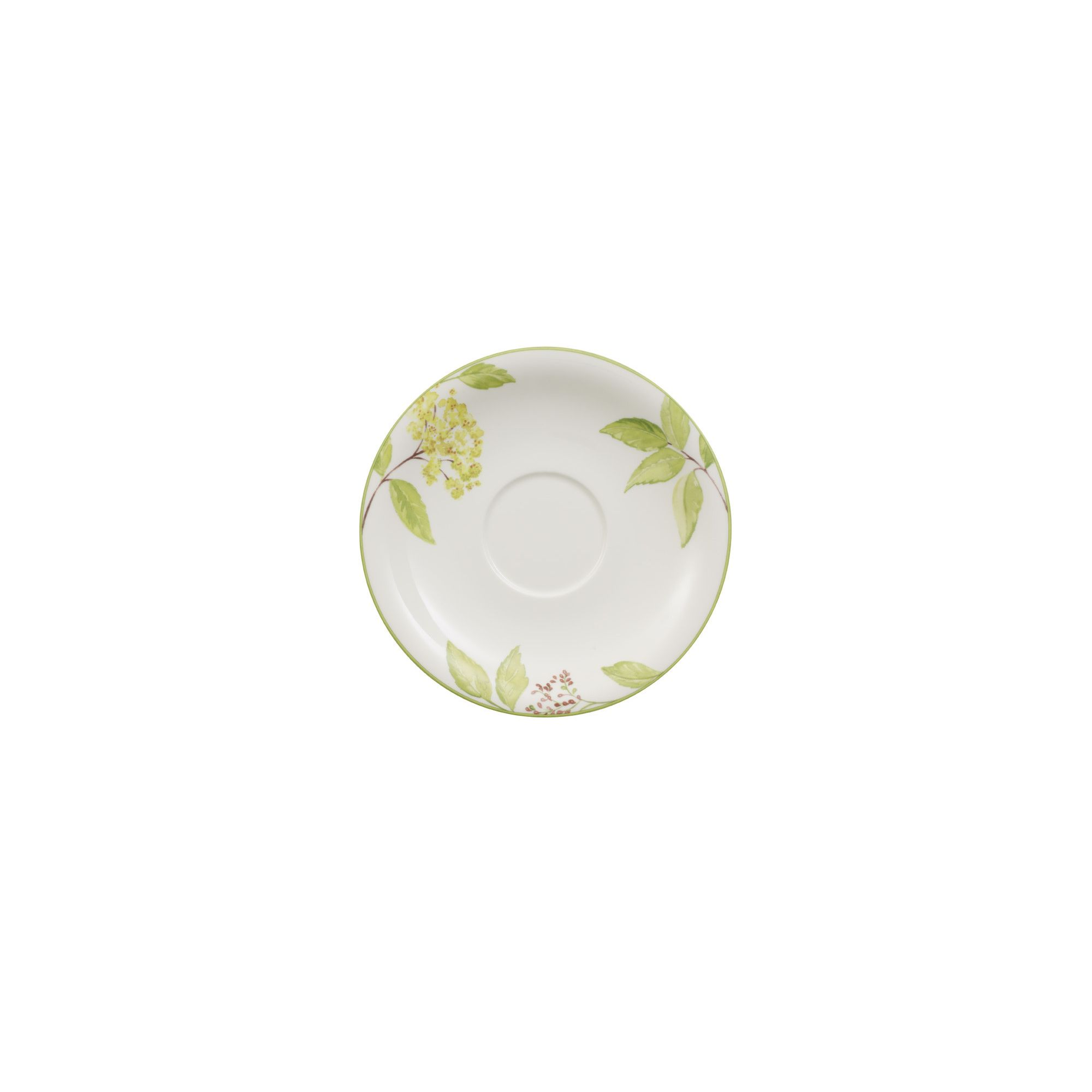 villeroy boch charm and breakfast green garland extra large coffee cup saucer in white shop. Black Bedroom Furniture Sets. Home Design Ideas