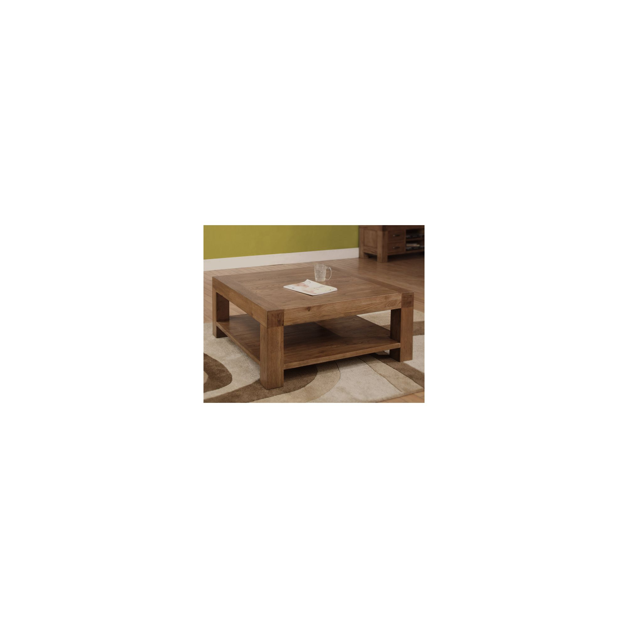 Hawkshead Santana Low Coffee Table in Rich Patina at Tescos Direct