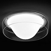 Leucos Jelly Fish Wall / Ceiling Light - 55W Fluorescent 2GX13 - Crystal and Glossy White